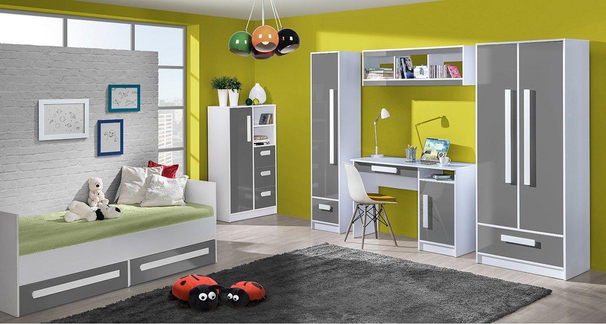 Jugendzimmer Kinderzimmer Gerome 7-tlg komplett Set C in 5 Farben ...