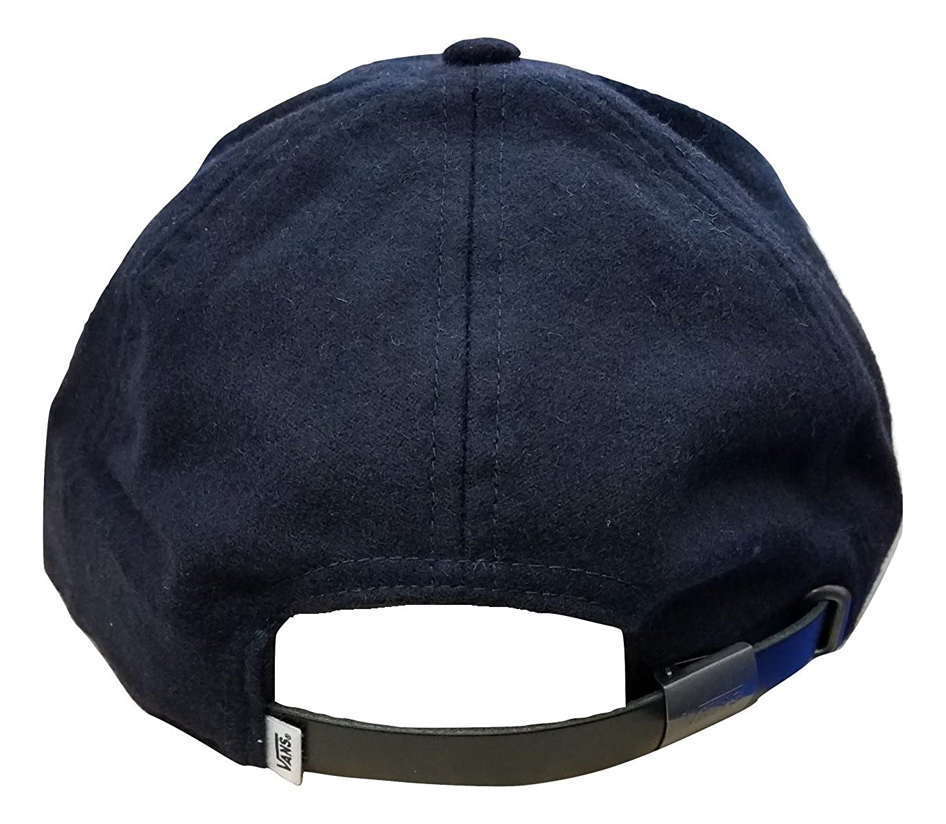 92092da5fbc Vans Men s Women s Dogout Baseball Strap Dad Hat Black College Navy One  Size at Amazon Men s Clothing store
