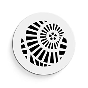 """SABA Air Vent Cover Grille - Acrylic Plexiglass 6"""" Round Duct Opening (7.5"""" Round Overall) White Finish Decorative Register Covers for Walls and Ceilings NOT for Floor USE, Waterwheel"""