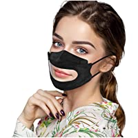 Naladoo Clear Face Masks Reusable,3 Layers Face_Mask with Clear Mouth Window,Stylish Solid Color Face Covering,Anti-Fog…