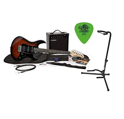 Yamaha Gigmaker Electric Guitar Package Old Violin Sunburst With Amplifier And Guitar Stand