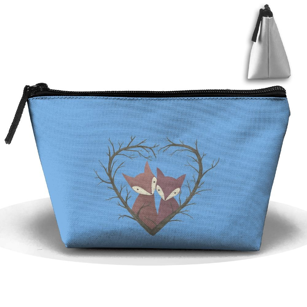 Unisex Stylish And Practical Valentine'S Love Foxes Branch Heart Love Trapezoidal Storage Bags Handbags by XIANGKESI (Image #1)