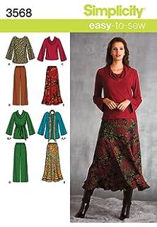 Simplicity 3568 - Patrones de costura para ropa de mujer (tallas grandes)