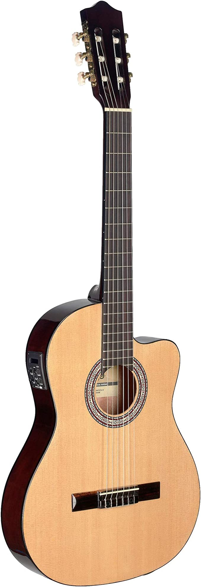 Stagg c546tce - n Electroacústica Natural guitarra clásica: Amazon ...