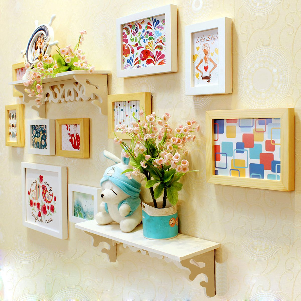 Buy WollWoll Abstract Colorful Art Large Photo Frame Set (130 cm x ...