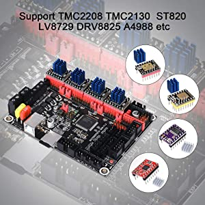 BIGTREETECH SKR V1.3 32bit Smoothieware Controller Panel Board for 3D Printer Compatible With12864LCD/ TFT24 Support 8825/TMC2208/Tmc2130