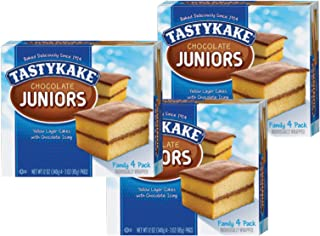 product image for Tastykake Chocolate, Coconut or Koffee Kake Juniors Family Size 4 Pack- A Philadelphia Baking Institution (Chocolate Juniors, 3 Pack)