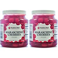 Maraschino Cherries with Stems, 74 Ounce Jar (Pack of 2, Total of 148 Oz)