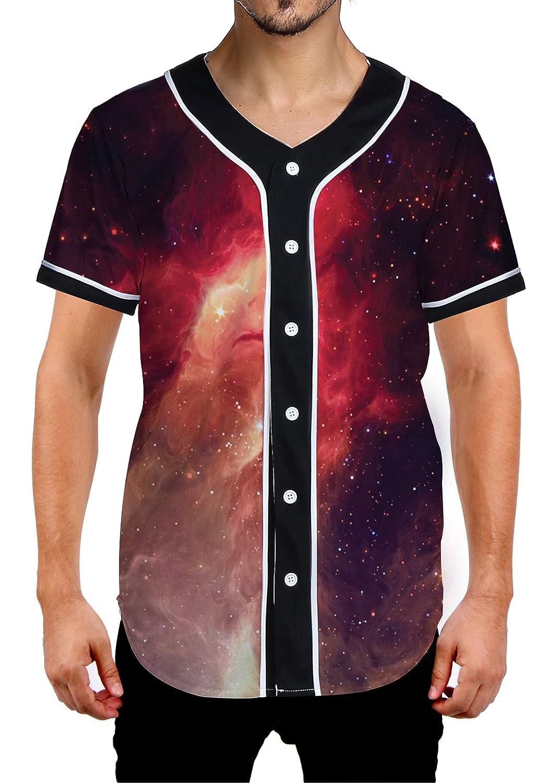 Uideazone SHIRT メンズ B07CHPLPCM X-Large|Galaxy Flame Galaxy Flame X-Large