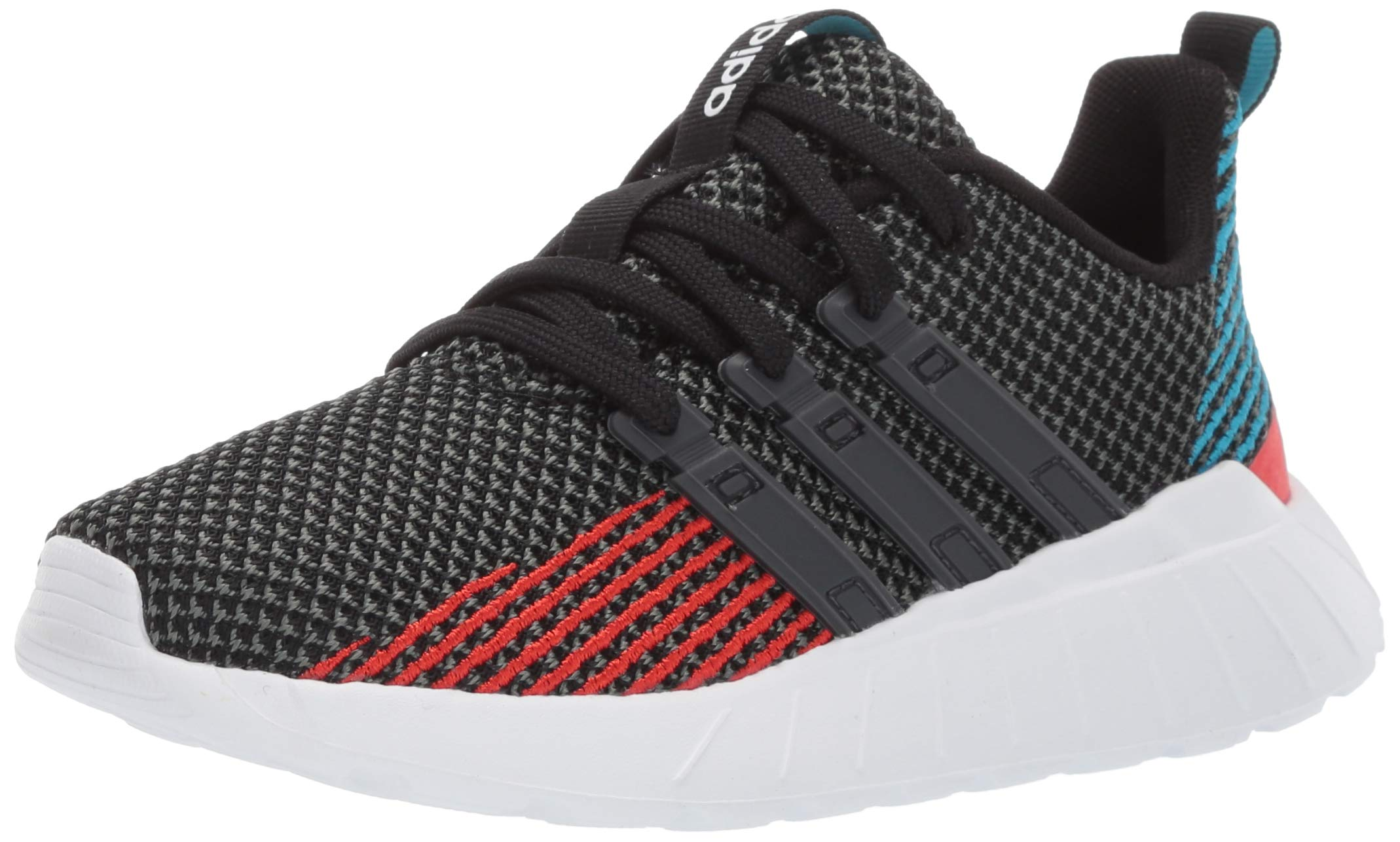 adidas Unisex-Kid's Questar Flow Running Shoe, Black/Grey/Active red, 11.5K M US Little Kid by adidas