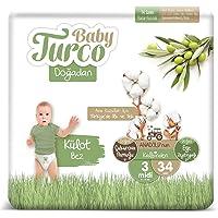 Baby Turco Doğadan Külot Bez, 3 Beden, 34 Adet
