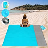 YOYI Sand Free Beach Blanket 210T Polyester,Beach Mat Waterproof Sandproof for 2-7 Adults, Oversized 55'' x 69…