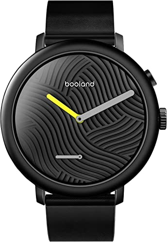 Booland Minimalist Smart Watch Hybrid Smartwatch Fitness Tracker for Men Women – Black
