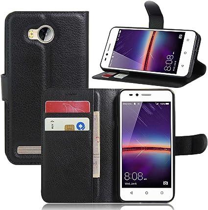 Guran® Custodia in Pelle per Huawei Y3 II Smartphone di Funzione di in Piedi e Slot per Contanti Carte Caso