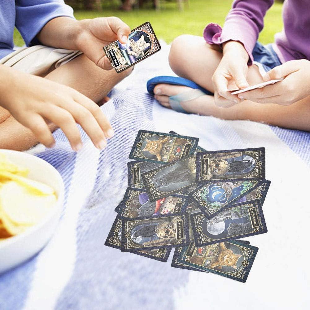 WENTS familiars Tarot Card,Juego de cartas del tarot,Juego de cartas de adivinaci/ón,Patr/ón /único y exquisito,Embalaje de caja colorida Juegos de Tarot