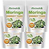 Moringa 1000 Energy Tabs 950mg, 100% Natur, Vegan, hochdosiert, Kapseln Tabletten Presslinge von MoriVeda (4x250)