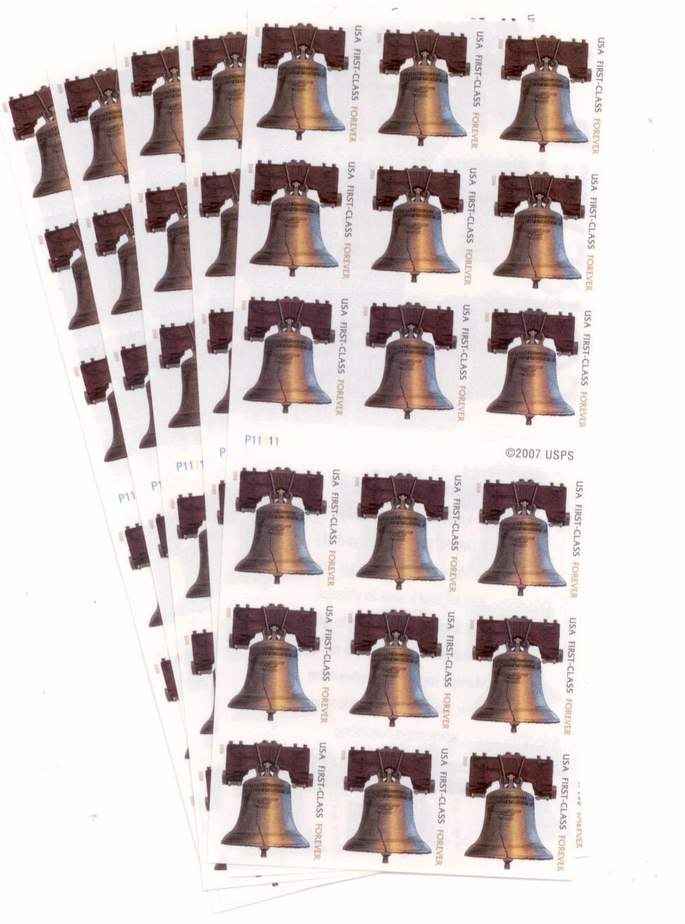 USPS Forever Stamps Liberty Bell 90 Stamps (5 x Sheets of 18)