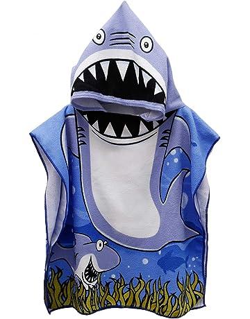 06576832d Genovega Toddler Hooded Beach Bath Towel – Baby Shark Soft Beach Towel Swim  Pool Coverup Poncho