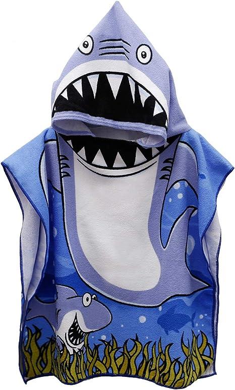 Shark Poncho Hooded Towel
