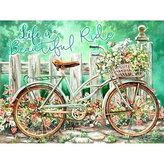 Ronda completa Broca Diamante Bordado Jardín Bicicleta 5D Diy ...