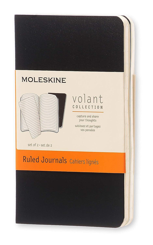 Moleskine - Cuaderno Volant Journal, Set de 2 Cuadernos con Páginas, Cubierta Blanda y Hojas Separables, Color Negro