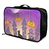 Travel Bags Halloween Pumpkin Owl Black Cat