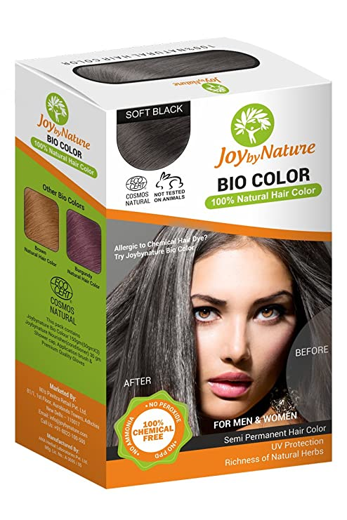 Buy Joybynature-Top selling 100% Organic Hair Color - Soft Black ...