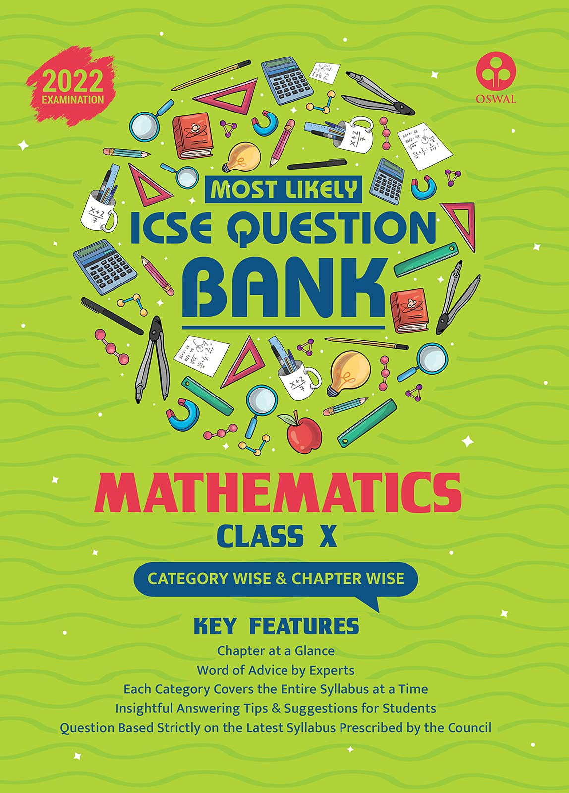 Most Likely Question Bank for Mathematics: ICSE Class 10 for 2022 Examination Paperback – 15 April 2021