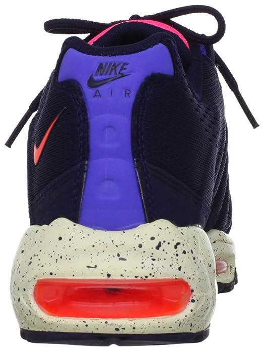 8fc311b573 Amazon.com   Nike Men's Air Max 95 EM White/Ttl Crmsn/Blchnd Bl/Bch Running  Shoe 13 Men US   Road Running