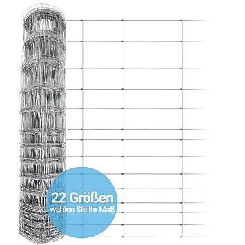 Wildzaun 50m Forstzaun Weidezaun Drahtzaun Knotengeflecht 80//17//15