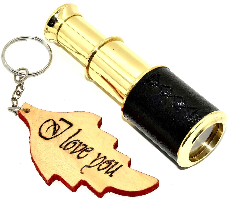 Handheld Brass Telescope Pirate Navigation Nautical Gift Decor
