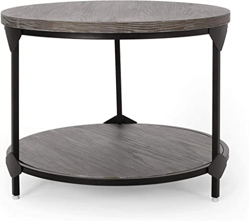 Christopher Knight Home Adeline Modern Industrial Round Coffee Table