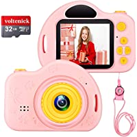 Voltenick Kids Camera for 3-10 Year Old Girls, Kids Digital Cameras 1080P 2 inch Toddler Video Camera Gift for Age 3 4 5…