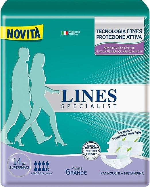 9 opinioni per Lines Specialist Pannolone a Mutandina