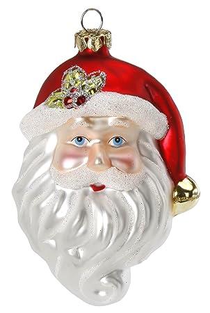 Magic Christbaumschmuck Weihnachtsmann Kopf 9 5cm Glas