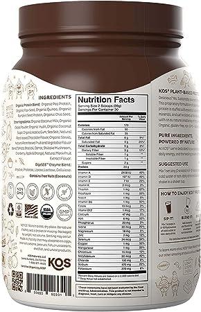 Amazon.com: KOS Organic Plant Based Protein Powder – Mezcla ...