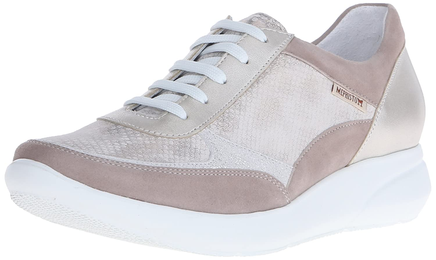 Mephisto Women's Diane Oxford B014GCL20Y 5.5 B(M) US|Warm Grey Velcalf Premium/Light Sand Savana/Mithril Perl Calfskin/White Fashion