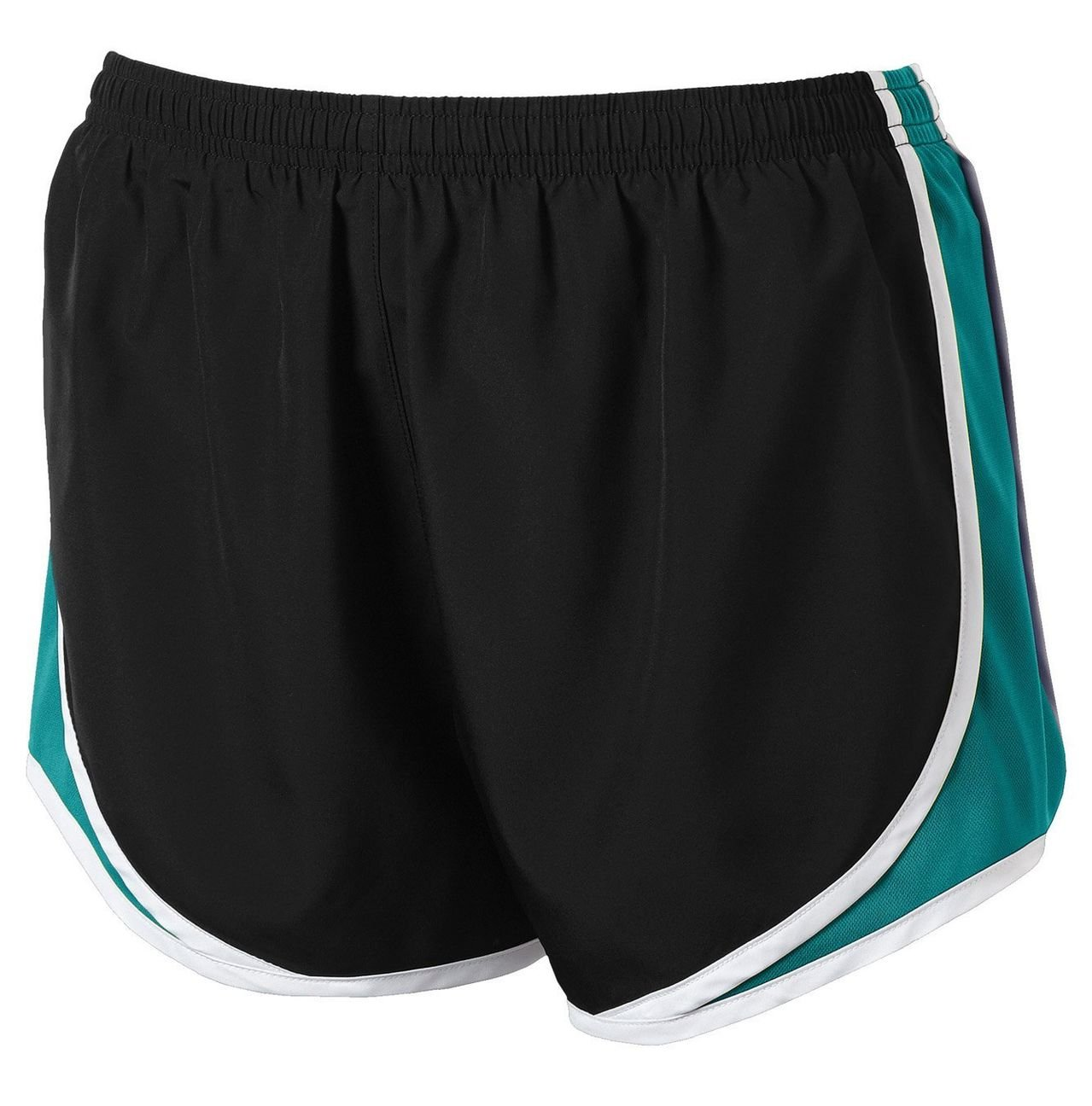 Clothe Co. Ladies Moisture Wicking Sport Running Shorts, Black/Tropic Blue/White, S by Clothe Co. (Image #1)