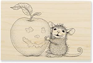 Stampendous Apple Smile House Mouse Rubber Stamp
