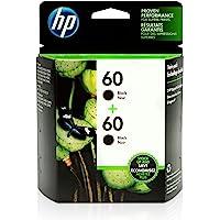 HP 60 Black Original Ink, 2 Cartridges (CZ071FN)