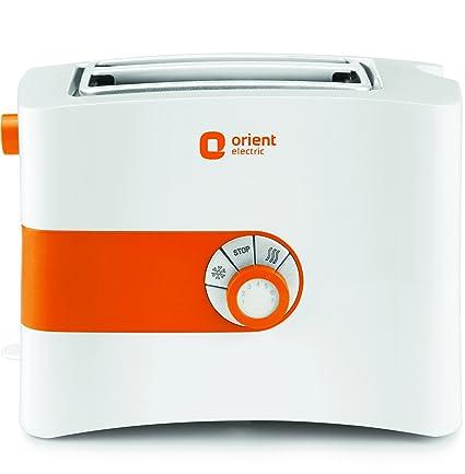 Orient Electric PT2S05P 2 Slice Pop Up Toaster Plastic Body (White)