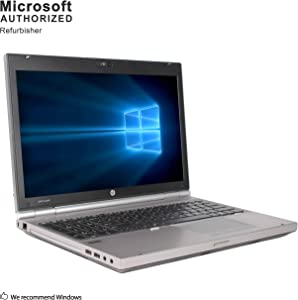 HP EliteBook 8560P 15.6 Inch Business PC, Intel Core i5-2410M up to 2.9GHz, 8G DDR3, 320G, VGA, DP, Windows 10 Pro 64 Bit Multi-Language Support English/French/Spanish(Renewed)