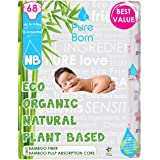 PureBorn Disposable Baby Diapers, Size 0, 0 to 4.5 Kg - 68 Count - Banana Leaf
