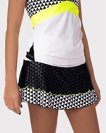 Falda de Padel o Tenis IDAWEN. Cintura Alta, Tejido de compresión ...