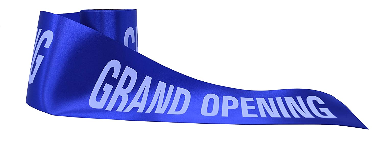 Printed Grand Opening 6 inch 25 Yards Ceremonial Ribbon by Wonder Clothing   B014TK2RS4