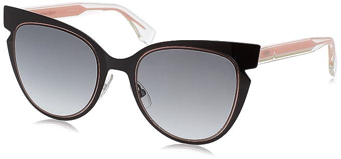 389911fb0832 Fendi Women's Cutout Sunglasses, Black Crystal/Grey Gradient, One Size