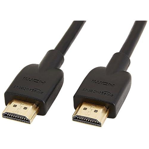 AmazonBasics - Cable HDMI 2.0 de alta velocidad (Ethernet, 3D, vídeo 4K y ARC, 0,9 m, estándar más reciente)