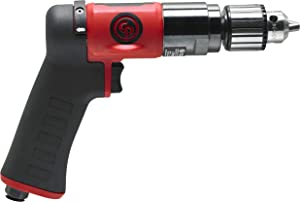 Chicago Pneumatic CP9790C Composite Lightweight Reversible Air Drill with Pistol Grip, 3/8-Inch Keyed Chuck, 2,100 RPM, 8941097900