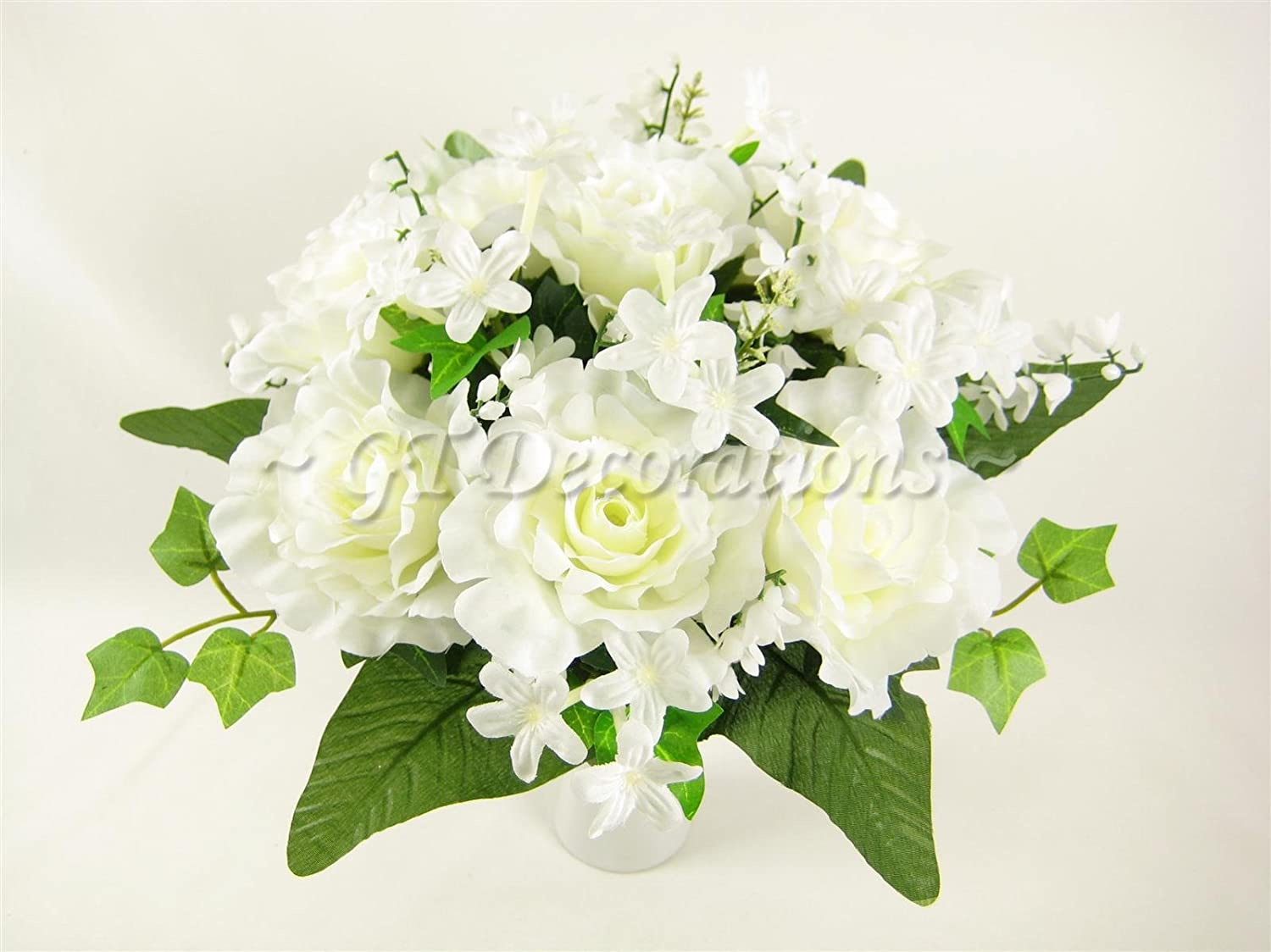 Cream Artificial Flower Rose Stephanotis Lily Of Valley Wedding
