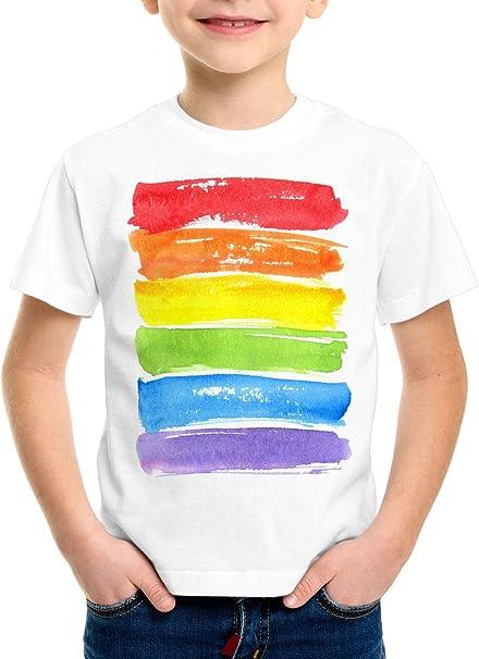 style3 Bandera arcoíris Camiseta para Niños T-Shirt LGBT Amor tolerancia: Amazon.es: Ropa y accesorios